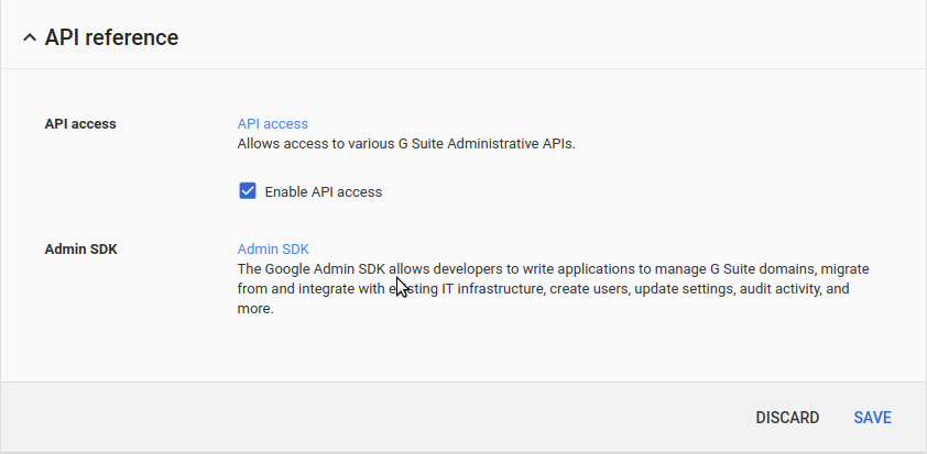 Google Apps API Access