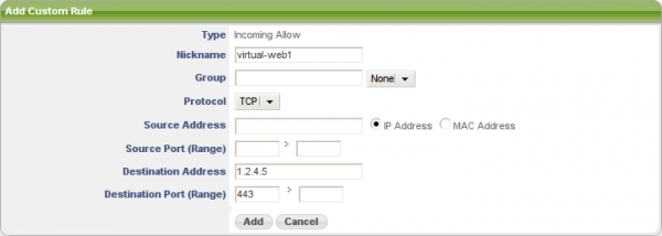 Allowing Access to Port X on a Virtual IP Address